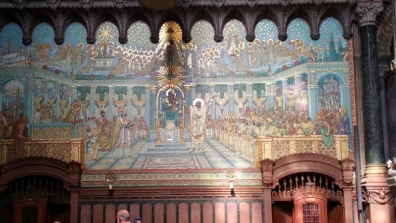 One of the mosaics at the Basilica of Notre-Dame de Fourvière Lyon