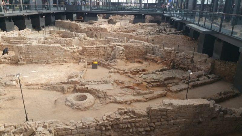 Mercat del Born preserved Roman ruins in Barcelona