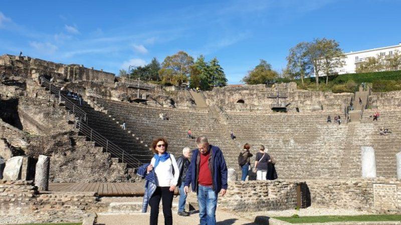 Theatre Gallo-Romain ruins in Lyon, France