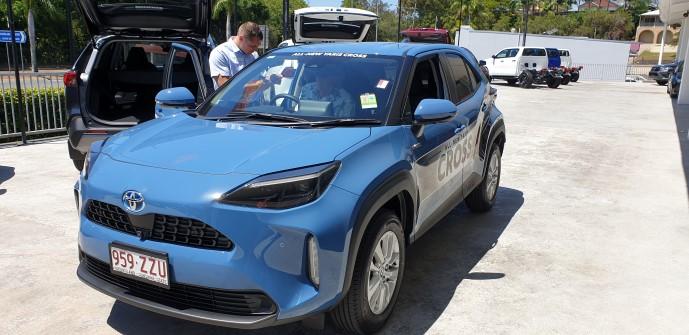 Ken Mills Toyota representative explains the Toyota Yaris Cross features